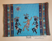 Southwestern Tapestry Placemat -Kokopelli Turquoise