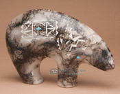 Southwest Horse Hair Pottery -Spirit Bear