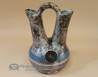Navajo Horse Hair Color Band Wedding Vase - Dreamcatcher
