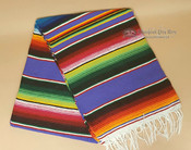 Southwest Mexican Serape Blanket 5'x7' -Purple
