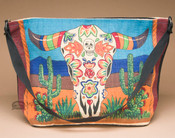 Day of the Dead Purse -Steer Skull
