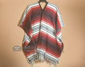 Mexican Falsa Poncho -Red