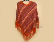 V Neck Knitted Alpaca Poncho