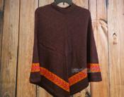 Colorful Knit Alpaca Poncho