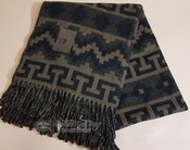 Very Fine Alpaca Blanket -Black & Tan
