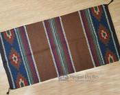 8 lb. Handwoven Wool Saddle Blanket -Brown