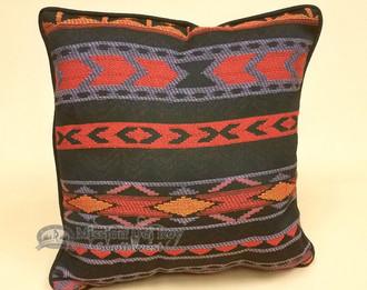 Zapoteca Designer Throw pillow -Red