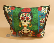 Southwestern Day of the Dead Purse - Featuring Frida Kahlo's Skeleton