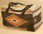 Native Southwestern Design Weekender Rug Bag -Brown