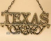 Rustic Western Hanging Metal Art- Texas