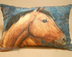 Reverse Side Of Pillow -Single Horse