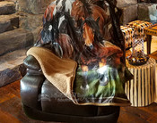 Plush Sherpa Silk Touch Throw -Wild Horses