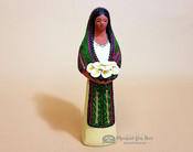 Southwestern Standing Woman Figurine With Flowers