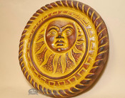 Southwestern Painted Clay Sun - Rust