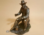 SouthwesternBronze Sculpture - Cowboy Coffee Break