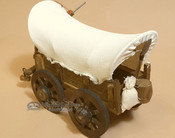 Handcrafted Covered Wagon - White