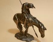 "Bronze Rustic Southwestern Statue 7.5"" - End of Trail"