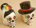 Day of The Dead Salt & Pepper Shakers - Bride and Groom