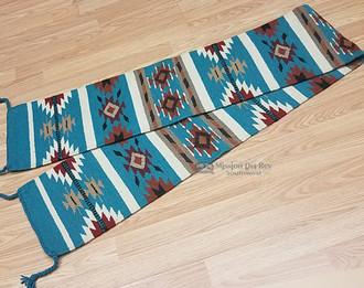 Handwoven Wool Woven Table Runner - 10x80