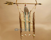 Navajo Beaded Bone and Shell Breast Plate - Turquoise