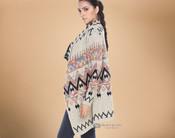 Multi-color Southwestern Design Cardigan Sweater - Large