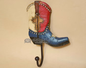 Western Cowboy Boot Hanging Wall Hook - Texas
