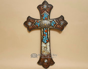 Rustic Southwestern Wall Cross -12""