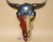 Decorative Wall Steer Skull - Texas Lone Star 9""