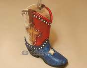 Western Style Christmas Ornament - Texas Cowboy Boot 4""