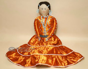 Handmade Southwestern Navajo Dress Doll