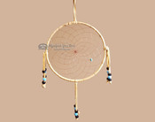 "Beaded Navajo 6"" Dream Catcher by Curtis Bitsui -Blue & Black"