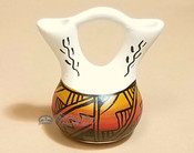 Native American Navajo Mini Painted Wedding Vase