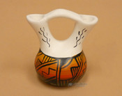 Navajo Indian Mini Hand Painted Wedding Vase