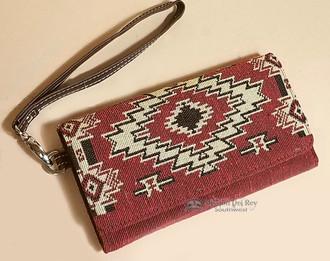 Southwest Tapestry Woven Wallet Clutch