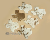 Genuine Cowhide 6 piece set of Texas Coasters
