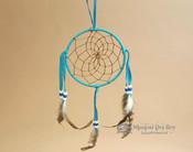 "5"" Handwoven Dreamcatcher - Turquoise"