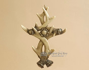 Double Antler Cross - Narrow
