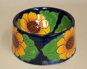 Mexican Talavera Dog Bowl