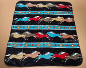 Luxury Plush Southwest Design Blanket -Horses