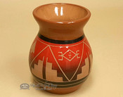 Lakota Sioux Red Clay Glazed Vase