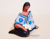 Sitting Pottery Figurine -Maria