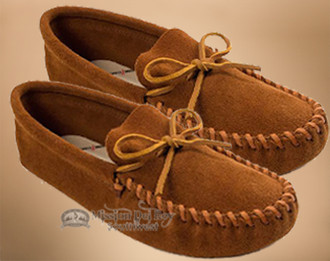 Men's Leather Laced Moccasins -Size8
