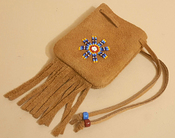Deerskin Suede Medicine Bag -Oglala Sioux