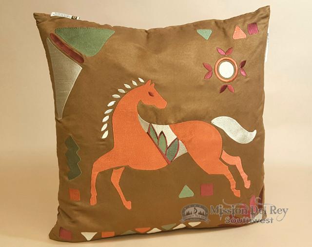 Western designer applique pillow horse p mission del