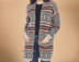 Southwestern Cardigan Sweater -Two Front Pockets