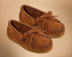 Traditional Fringed Leather Kid's Moccasins