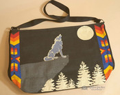Southwestern Purse With Wolf Design