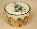 Hand Painted Tarahumara Indian Drum 12x8 -Rain Bird