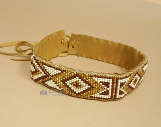 Native American Hand beaded Choker/headband/hatband/ -Navajo