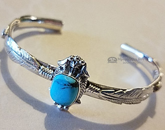 Sterling Silver with Turquoise Navajo Cuff Bracelet